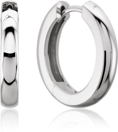 Metal Fashion Hoop Earrings 14K White Gold
