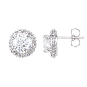 14kt White   1/  ATW Diamond Earrings
