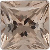 Square SWAROVSKI GEMSTONES™ Genuine Sand Smoky Quartz