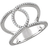 Diamond Interlocking Loop Ring