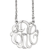 3-Letter Ribbon Monogram Necklace