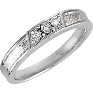 Diamond Illusion Engagement Ring or Matching Band