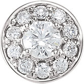 Round Shaped Diamond Cluster Peg Setting