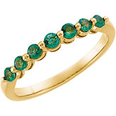 Genuine Emerald Anniversary Band