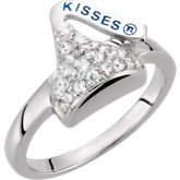 HERSHEY'S KISSES Cubic Zirconia Birthstone Rings