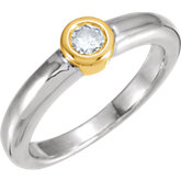 Round Bezel Set Engagement Ring Mounting
