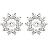 5/8 ct tw Diamond Earring Jacket