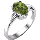 Oval Gemstone Scroll Setting® Ring or Mounting