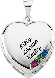 Engravable Family Heart Pendant
