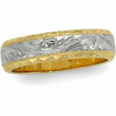 6 mm Two-Tone Hand-Engraved Band