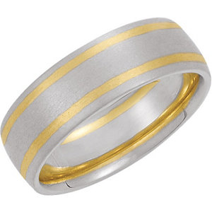 Two-Tone 7mm Comfort-Fit Band