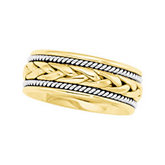 8mm Two-Tone Handwoven Comfort-Fit Band