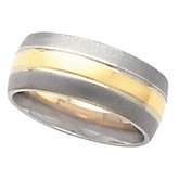 8mm Two Tone Wedding Band