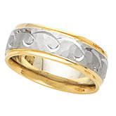 6.75mm Two Tone Design Band