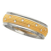 6mm Two Tone Design Band