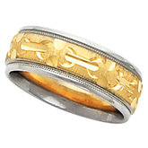 7mm Two Tone Design Band
