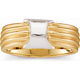 Two Tone Gold Fashion Ring