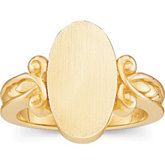 Gold Fashion Signet Ring