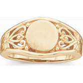 Open Back Signet Ring