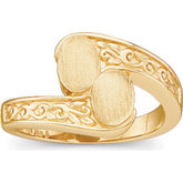 Ladies Bypass Signet Ring