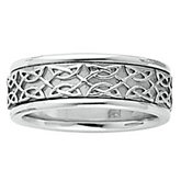 7mm Celtic-Inspired Band