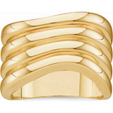 Wavy Ribbed Fashion Ring
