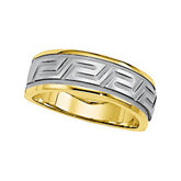 Greek Key Inspired Wedding Band