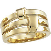 Overlapping Bands Fashion Ring