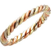 2.5mm Tri-Color Hand Woven Wedding Band