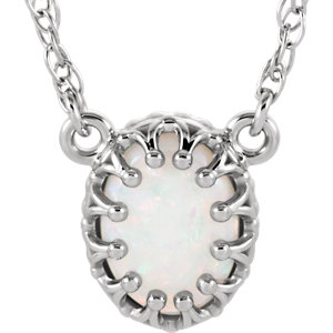 Oval Crown-Design Gemstone Necklace or Center Mounting
