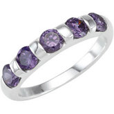 Stackable Amethyst Colored CZ Ring