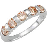 Stackable Champagne CZ Ring