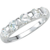 Stackable CZ Ring