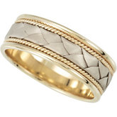 8mm Woven Comfort Fit Ladies or Gents Wedding Band