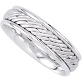 6.5mm Hand Woven Comfort Fit Ladies or Gents Wedding Band