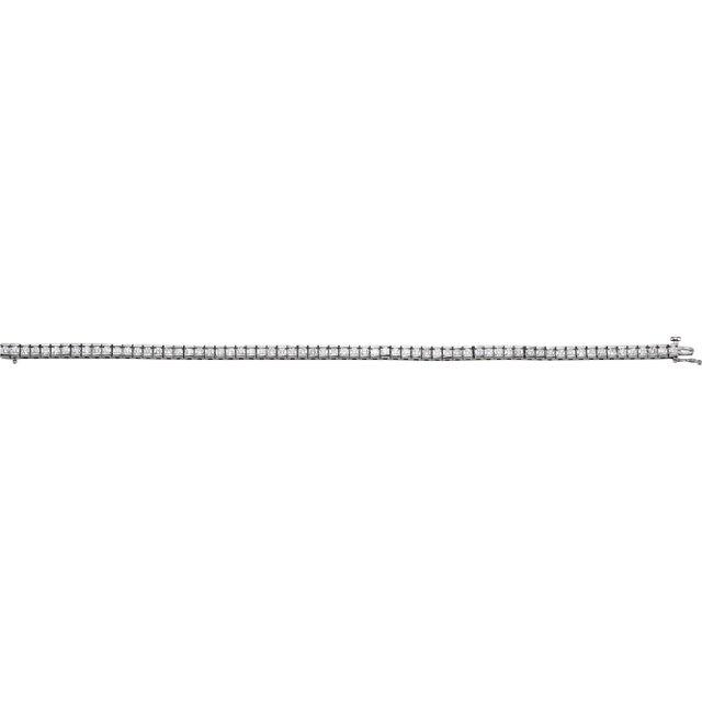 14K White 4 CTW Diamond Line 7.25