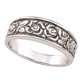6mm Floral Design Band