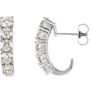 Created Moissanite J-Hoop Earrings