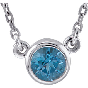 Sterling Silver Swiss Blue Topaz Bezel 16