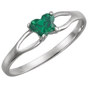 Sterling Silver Bfly® May AZ Birthstone Ring