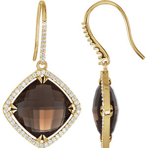 Antique Square Halo-Styled Earrings
