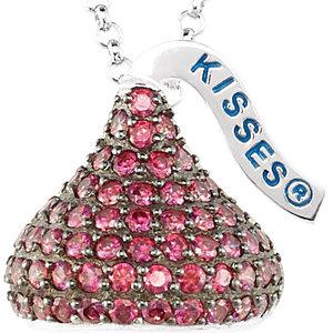 Sterling Silver July HERSHEYS KISSES Aubic Zirconia 16-1
