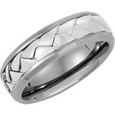 7.0mm Titanium & Sterling Woven Band