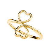 Double Heart Fashion Ring