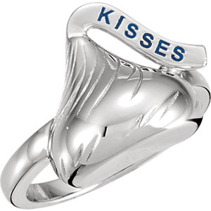 Sterling Silver HERSHEYS KISSES Ring Size 7