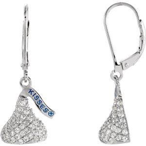 HERSHEYS KISSES Flat Back Cubic Zirconia Dangle Earrings Ref 85211