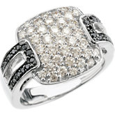1 1/4 ct tw Black & White Diamond Ring