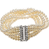 Freshwater Cultured Pearl 7-Strand Necklace or Bracelet
