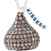 HERSHEY'S KISSES 3D Brown Diamond Necklace