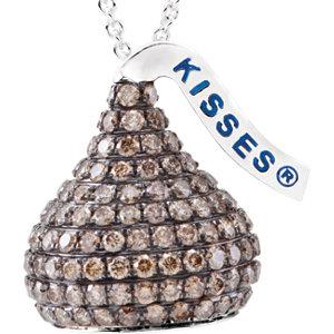 HERSHEY'S KISSES 3D Brown Diamond Necklace